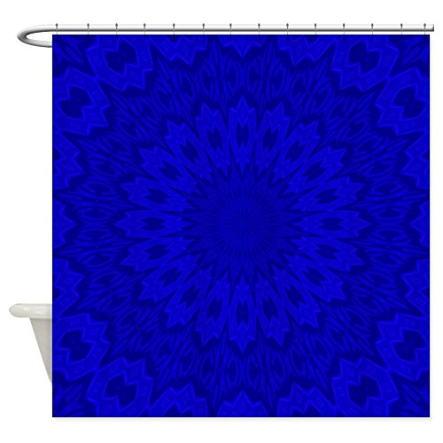 Cobalt Blue Floral Mandala Shower Curtain