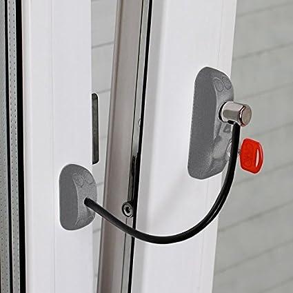 Bsl CABLE PRIME - Cerradura de Protección para Puertas y Ventanas (Color: Plata)
