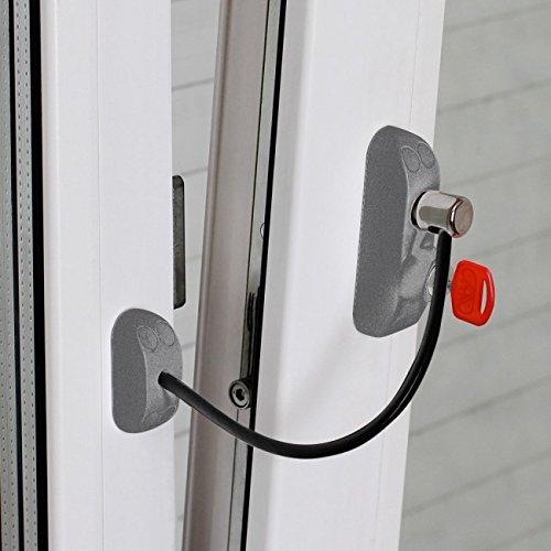 Color: Plata Cerradura de Protecci/ón para Puertas y Ventanas Bsl CABLE PRIME