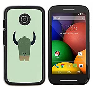 Qstar Arte & diseño plástico duro Fundas Cover Cubre Hard Case Cover para Motorola Moto E (Lindo Dracónido)