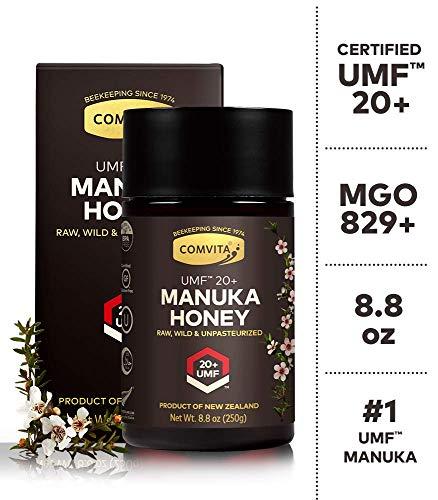 Comvita Active Manuka Honey - Comvita Certified UMF 20+ (MGO 829+) Raw Manuka Honey I New Zealand's #1 Manuka Brand I Authentic, Wild, Unpasteurized, Non-GMO Superfood I Rare, Ultra Premium Grade I 8.8 oz