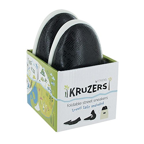 Kruzers Foldable Slip-on Street Sneakers Includes on-The-Go Travel Tote