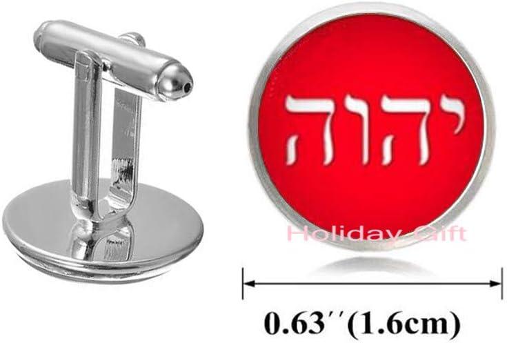Holiday gift Tetragrammaton Photo,Cuff Links,Tetragrammaton Symbol Cufflinks,Tetragrammaton Cuff Links,Picture Cufflinks.HTY-391