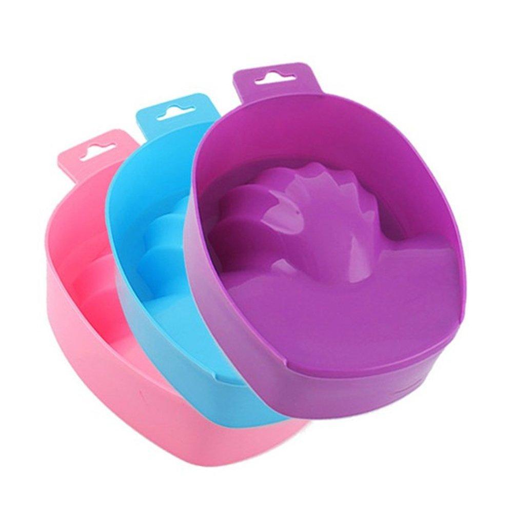 Livecity 1 Pc Nail Art Hand Wash Remover Soak Bowl DIY Salon Nail SPA Bath Manicure Tool
