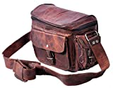 Right Choice Leather camera bag Unisex camera Satchel Travel Camera Case DSLR / SLR camera PouchWomen Purse 12x9x5 Brown