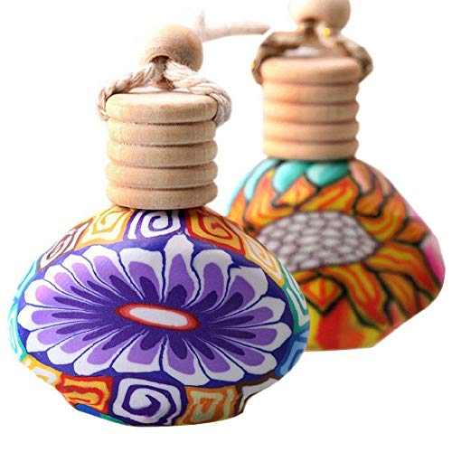 - Polymer Clay Empty Air Freshener Perfume Fragrance Bottle Car Hanger Home Decor ruiycltd