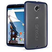 Orzly® - NEXUS 6 - FUSION Gel Hard Case - BLUE Phone Cover Skin for Google / MOTOROLA NEXUS 6 SmartPhone (Model Name Alias: NEXUS X) - Fits ALL Models and Versions from 2014 Original Version and onwards