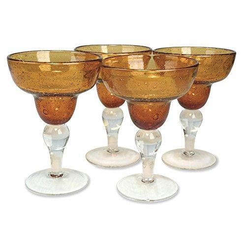 Artland Iris Margarita Glasses, Amber, Set of 4 -