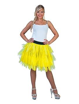 Funny Fashion Falda Tul Amarillo Fluorescente para Mujer, Talla ...