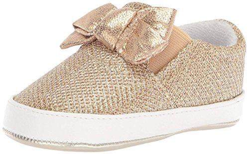 Nine West Girls' Odettacrib Crib Shoe, Gold/Metallic Mesh, 2 Medium US Infant ()