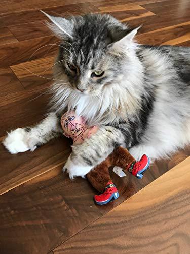 "FUZZU Collusion Duo (Donald Trump and Vladimir Putin) Presidential Parody Cat Toy with Organic Catnip - Cat (8"") 8"