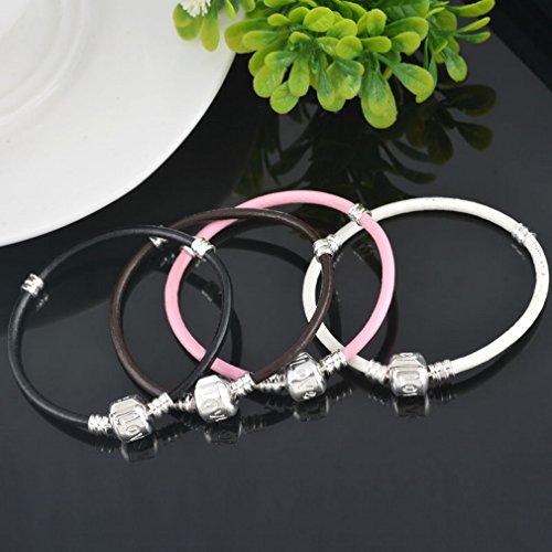 Souarts Lot de 4Pcs Bracelet pour Charms Perles Drops Breloques 24cm