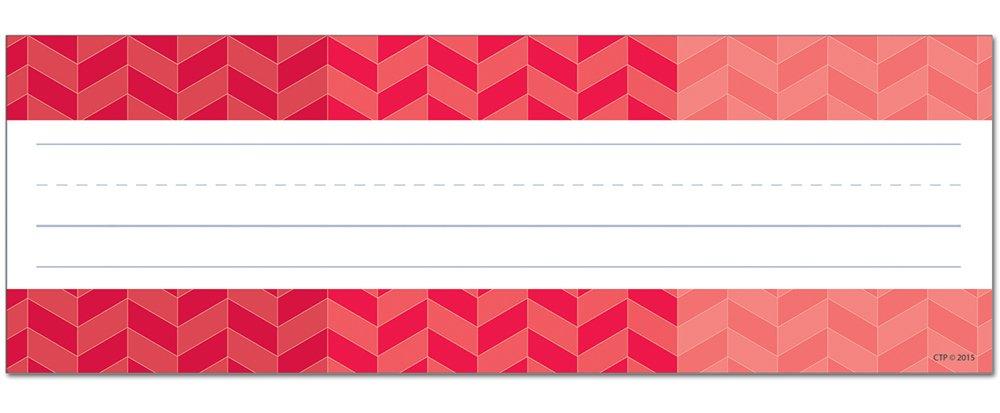 Creative Teaching Press Ombre Herringbone Name Plates, Poppy Red (4453)