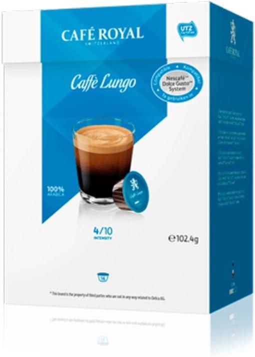 Café Royal - Café largo para Dolce Gusto, 16 cápsulas, Paco de 4