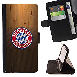 For Apple Iphone 5 / 5S Bayern M¡§?nchen Soccer Beautiful Print Wallet Leather Case Cover With Credit Card Slots And Stand Function