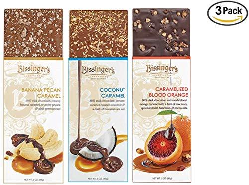 Bissinger's Fruity Caramel Chocolate Gift Set (3-Pack) - Caramelized Blood Orange, Coconut Caramel & Banana Pecan Caramel | The Ultimate Chocolate Caramel Lover's ()