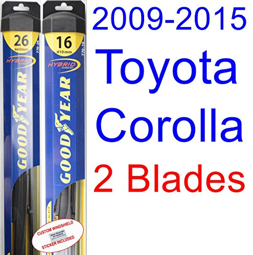 Goodyear Windshield Wipers >> 2009-2015 Toyota Corolla S Replacement Wiper Blade Set/Kit (Set of 2 Blades) (Goodyear Wiper ...