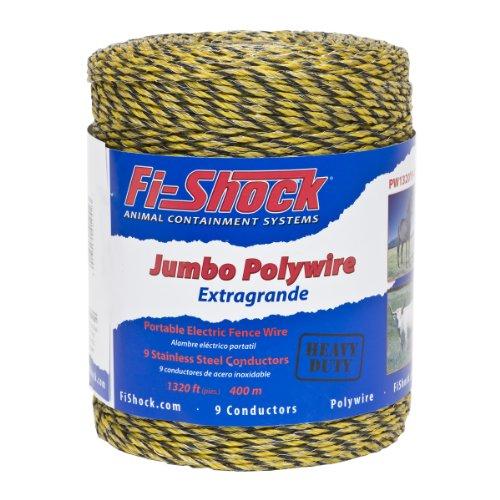 Fi-Shock PW1320Y9-FS 9-Strand Polywire, 1320-Feet (Fence Horse Wire)