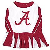 Pets First NCAA ALABAMA CRIMSON TIDE Dog Cheerleader Outfit, Small