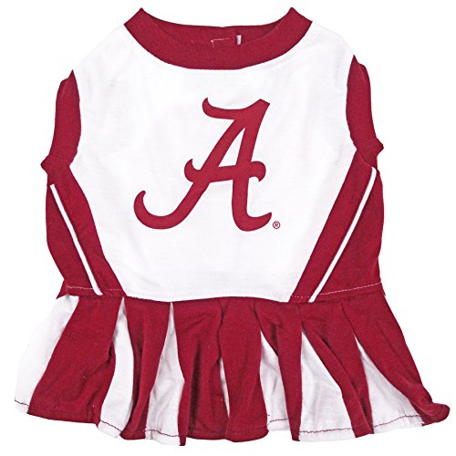 NCAA Alabama Crimson Tide Dog Cheerleader Outfit, Small]()