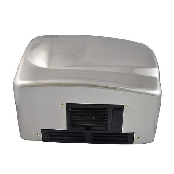 J&A Secador De Mano del Acero Inoxidable 1400W, Dispositivo De Sequía Ultra-Reservado De Las Manos del Sensor Automático, 265 * 125 * 205Mm: Amazon.es: ...
