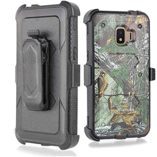Compatible for Galaxy J2 core Case,Galaxy J2 Dash/J2 Pure/J260 case, w/Built-in [Screen Protector] Heavy Duty Full-Body Armor Case [Belt Clip Holster][Kickstand] (Camo)