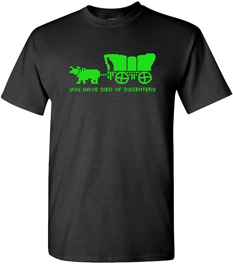 You Have Died of Dysentery - Oregon Game - Mens Cotton T-Shirt