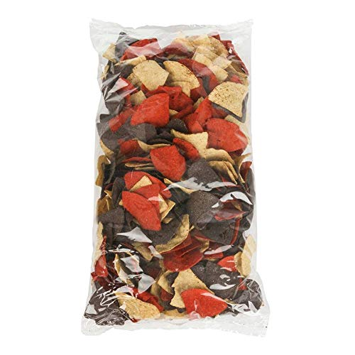 Mission Foods Triangles Tortilla Chips, Tri-Color, 2 Pound (Pack of 6) by Mission Foods