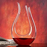 The Collectives Fashion Luxurious Crystal Glass U-shaped Horn Wine Decanter Wine Pourer Wine Container