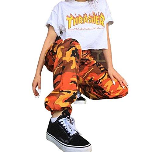 Orange Camo Pants - 9