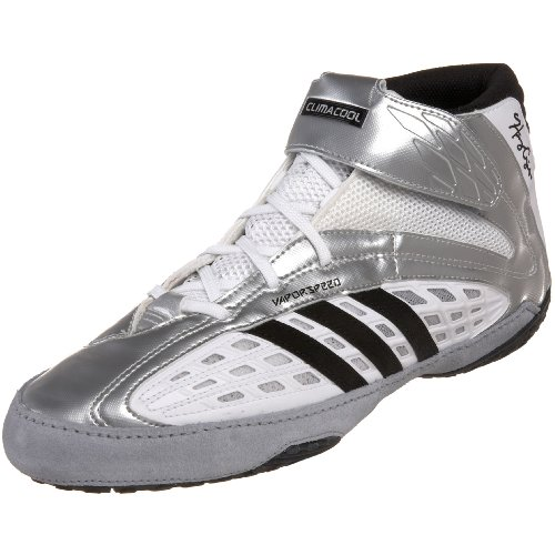 Adidas Golf Sandals - adidas Men's Vaporspeed II Henry Cejudo Wrestling Shoe,White/Black/Silver,12 M US