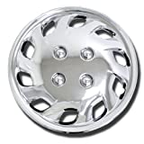 bmw 325 wheel cover - TuningPros WSC-501C14 Chrome Hubcaps Wheel Skin Cover 14-Inches Silver Set of 4