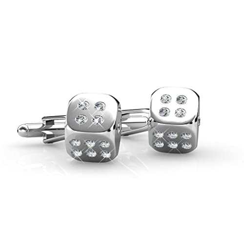 2b2c5d7f5cf4 Amazon.com  Dice Cufflink - Crystals from Swarovski  Jewelry