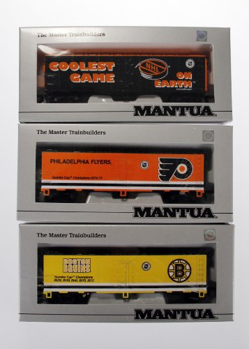 Mantua NHL Heavy 41 Steel Reefer Car Train Set of 3 Box Cars Toy