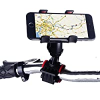 Meya Happy BKHOLD-901 Shockproof and 360 Degree Rotation Mobile Holder for Cycle and Bike (Black)