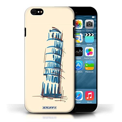 Etui / Coque pour Apple iPhone 6/6S / La Tour penchée de Pise conception / Collection de Monuments
