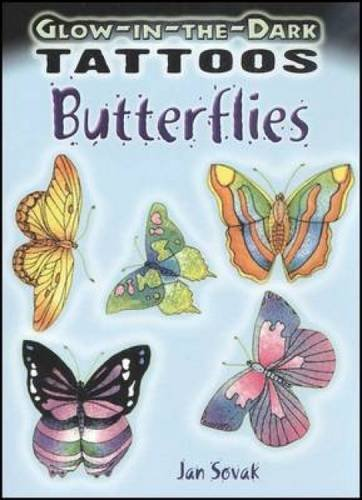 Glow-in-the-Dark Tattoos Butterflies (Dover Tattoos)]()