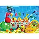 12 Einladungskarten Zum Kindergeburtstag Oder Schwimmbad Party Emoji /  Pool Party / Schöne Und