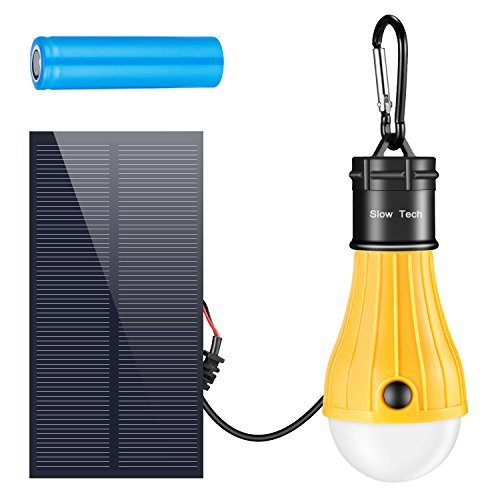 USB and Solar Panel Rechargeable LED Lantern Tent Light Bulb Portable Solar lights for Emergency Hurricane Power Outage, Hiking Camping Tent Garden Chicken Coop Shed Barn, Battery Powered lights