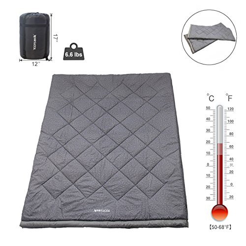 Double Sleeping Bag with a Carrying Bag for Camping, Backpacking, Hiking