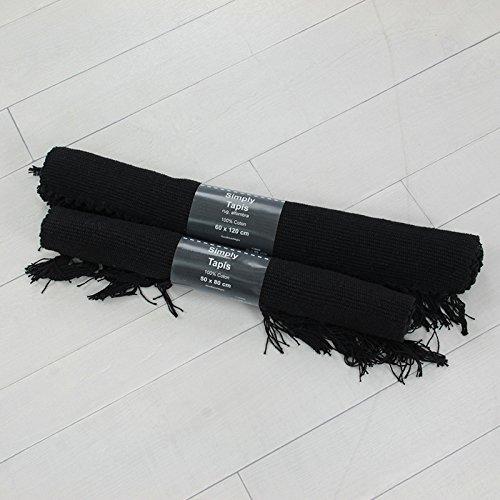 MonBeauTapis 608114 Simply Tapis Coton Gris 120 x 60 cm
