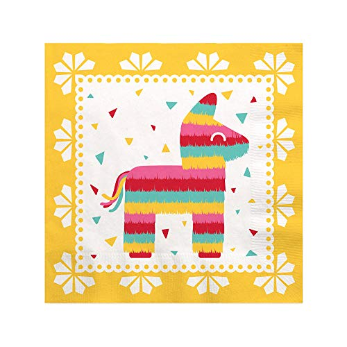Let's Fiesta - Mexican Fiesta Cocktail Beverage Napkins (16 Count)