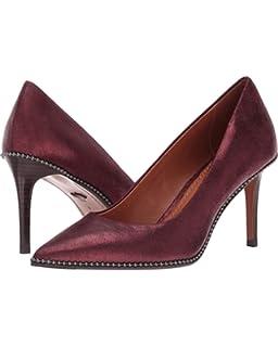 4da68bb72d3 Coach Womens Beadchain Pump Leather Pointed Toe Classic Pumps