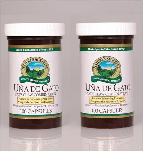 Naturessunshine Una De Gato Иммунная система поддержки травяная комбинация Дополнение (Кошачий коготь) 100 капсул (упаковка 2)