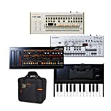 Roland JP-08, TB-03, TR-09, K-25M and CB-BR3 Bundle | Boutique Series Synthesizers Bundle with Bag