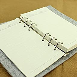 Emmix Note Books of Vintage Style Felt Diary Bound Notebooks Bulk Pack of 1 (Heart)