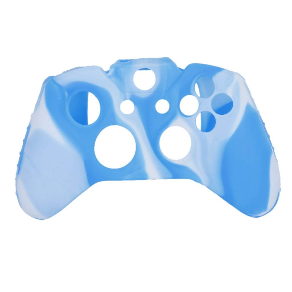 YaptheS Silicone Case Cover Protective for Xbox ONE Controller Blue with White by YaptheS (Image #4)