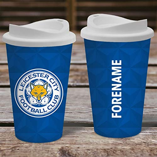 Official PERSONALISED Leicester City FC Crest Travel Mug