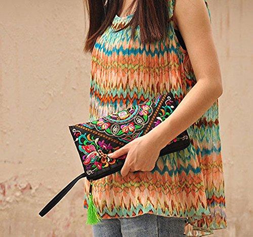 Flower femme Broadfashion Butterfly Galsang Pochette pour XvxwqFU