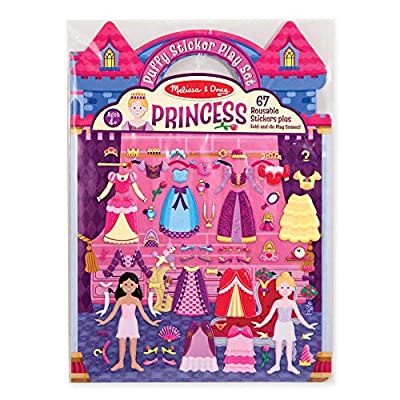 Melissa & Doug Puffy Sticker Play Set, Princess (Reusable Activity Book, 67 Stickers, Great for Travel, Great Gift for Girls and Boys – Best for 4, 5, 6, 7 and 8 Year Olds): Melissa & Doug: Toys & Games